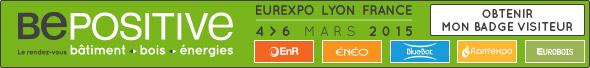 Salon Bepositive 2015. Bâtiment, bois, énergie du 4 au 6 mars 2015, Lyon Eurexpo