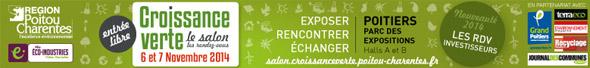 Salon de la croissance verte les 6 et 7 novembre 2014 à Poitiers