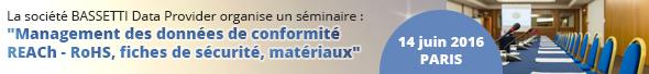 Management des données de conformité, séminaire de Bassetti le 14 juin