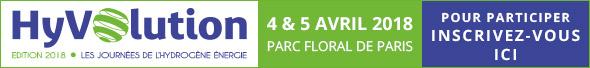 Hyvolution, les journées de l'hydrogène énergie les 4 et 5 avril à Paris