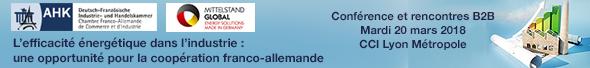 Le 20 mars, colloque : L'efficacité énergétique dans l'industrie : une opportunité pour la coopération franco-allemande